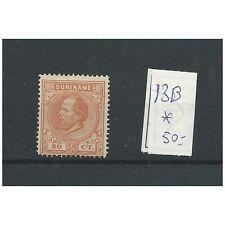 Suriname 13B  14x14 gr.gt.  MH/ongebr  CV 50 €