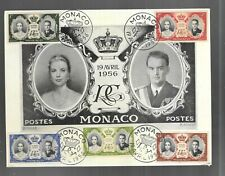 Monaco Large Postcard 1956 Fdc First Day Cover Combo