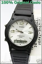 AW-49HE-7A Silver Casio Watches Dual Time Stopwatch Resin Band Brand-New