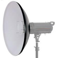 Beauty Dish 56 cm blanc avec softdiffusor et Adaptateur pour Elinchrom