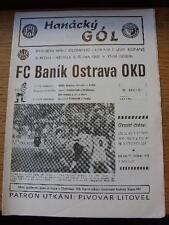 06/10/1991 Sigma Olomouc V Banik Ostrava. no hay defectos evidentes, a menos que descriptio