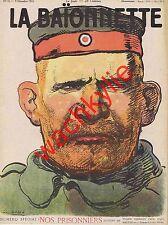 La baionnette n°23 du 09/12/1915 Prisonniers Huard Maurice Prax Hermann-Paul