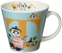 YamaKa store Moomin initial mug T MM630-11T Free Ship w/Tracking# New from Japan