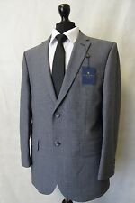Men's New Alexandre Savile Row Grey Check Regular Fit Suit 44S W40 L31 AA3003