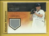 Max Scherzer 2012 Topps Golden Moments Relics Card # GMR-MSC Nationals Baseball
