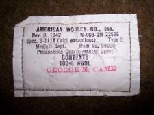 Genuine World War 2 Wool Blanket 1942 Military Army Medic Blanket Quartermaster
