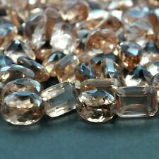 100.03 Cts Excellent Faceted Afghanistan Peach Morganite Loose Gemstones Lot