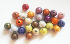 25  Round Acrylic Miracle Beads - Mix - 10mm