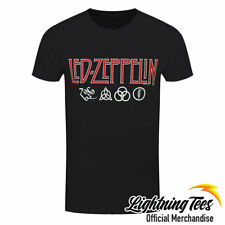 Official Led Zeppelin Logos & Symbols Rock Band T-Shirt