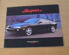 * Toyota Supra Twin Turbo Preview Brochure 1992 *