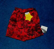 JACLYN SMITH RED & BLACK SATIN PAJAMAS PANTS SHIRT SET SIZE LARGE NWT
