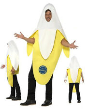 Carnival Costume Adult Banana Spit Sbucciata Ps 17562