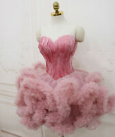 Sweetheart Feathers Ball Gown Graduation Short Formal Evening Party Prom Dresses