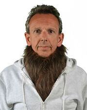 Brown Werewolf Hairy Neck Chest Cover Add to Any Adult Halloween Mask or Costume
