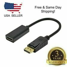 DP Displayport Male to HDMI Female Cable Converter Adapter for PC HP/DELL USA