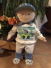 Puppe Weichpuppe Krümel 43cm mit Baby Kleidung ohne Schnullerfunktion