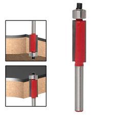 Wood Edge Cutting End Dual Flute Bearing Cutter Bit Tool Flush Trim Router
