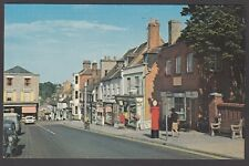 Postcard Lymington Hampshire vintage High Street and Quay Hill with Post Office