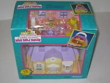 Vintage Blue-Box Tiny Dreams Carry Along Mini Doll House Miniature Playset