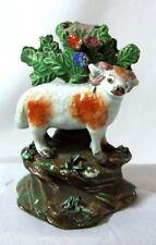 Late 18th Century Staffordshire pearlware Pottery Sheep Ram Animal Figure