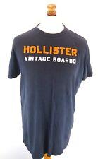 HOLLISTER Mens T-Shirt Top XL Black Cotton