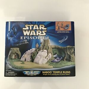 MICRO MACHINES Star Wars Naboo Temple Ruins Episode I Toy set