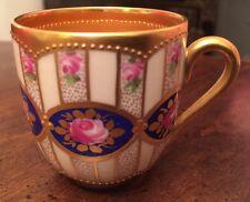 Antique Dresden Ambrosius Lamm Hand Painted Hand Gilded Demitasse Cup