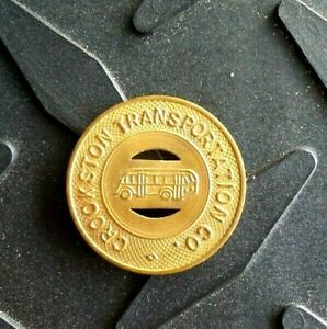 CROOKSTON MN 1947 TRANSIT TOKEN 190C CROOKSTON TRANSPORTATION CO