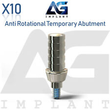 10 Anti Rotational Temporary Abutment Titanium For Dental Implant Internal Hex