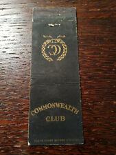 Vintage Matchcover: Commonwealth Club, San Francisco, CA  42