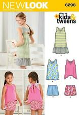 NEW LOOK SEWING PATTERN GIRLS'S DRESS TOP & SHORTS SIZES 3 - 14 KIDS TWEENS 6296