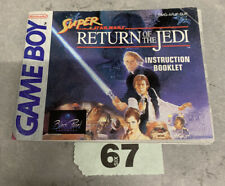 Nintendo Game Boy Super Star Wars Return Of The Jedi Instruction Booklet
