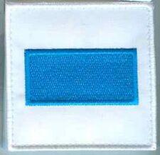 Alle Welt:DGA Balken blau auf weiss 8 x 8 cm mit Klett 2 Stück