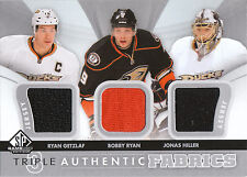 12-13 SP Game Used Authentic Fabrics Triple Jersey Ryan Getzlaf  Hiller Ryan 2cl