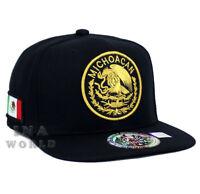 MEXICAN hat MEXICO Federal State Logo Snapback Flat bill Baseball cap- MICHOACAN