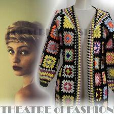 JACKET CROCHET VINTAGE DRESS 60s 70s JUMPER COAT WEDDING BOHO HIPPY FABULOUS