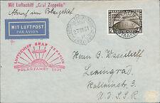 1931 Germany Graf Zeppelin Icebreaker Malyguin Cover Polar Flight LZ 127 # C42