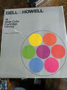 Bell&Howell 16 Slide Cube Cartridge Library Holds 640 Slides MT6817