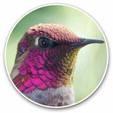 2 x Vinyl Stickers 25cm - Beautiful Hummingbird Bird Cool Gift #2614