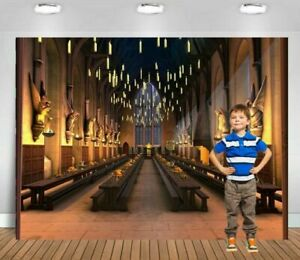 7x5ft Harry Magic school hogwarts castle dinner diner backdrop party background