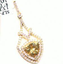 2.14ct 14k ORO NATURAL AMARILLO Emerald Berilio Diamante De Compromiso