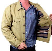 NEW NWT LEVI'S MEN'S PREMIUM CLASSIC COTTON BUTTON UP BROWN JACKET 7051800716