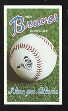 Atlanta Braves--1979 Pocket Schedule--Decatur Federal