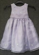 Next Dress | 9-12 Months | Lilac | Roses | Belt Tie | Petticoat | Lined | Party