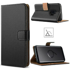 For Samsung Galaxy S10 S20 S9 S8 S7 Plus PU Leather Flip Case Wallet Cover BLACK