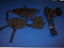 New black tactical shoulder holster and thigh holster,right leg for pistol,gun