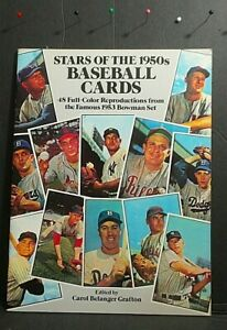 1985 DOVER PUBL./CAROL GRAFTON STARS OF THE 50'S BASEBALL CARDS REPRODUCTION