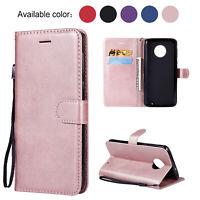 For Motorola Moto G7 Play G7 Power Magnetic Leather Wallet Flip Matte Case Cover
