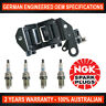 4x Genuine NGK Spark Plugs & 1x Ignition Coil for Hyundai Getz TB