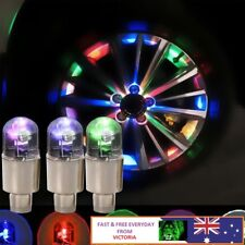 2pcs Multicolour Car Cycling Bike LED Neon Wheel Valve Tyre Tire Cap Dust Lights